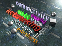 New Media - Background - 3D Royalty Free Stock Photography