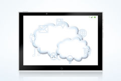 New media cloud illustration Royalty Free Stock Images