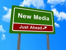 New media road sign Stock Image