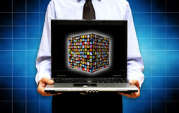 New media technology Stock Images