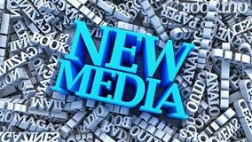 New Media vs Main Media 3D Rendering. Blue and White royalty free illustration