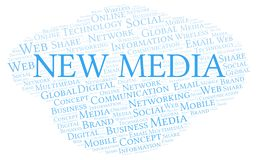 New Media word cloud. Word cloud made with text only vector illustration