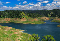 New Melones Reservoir. Low water levels at New Melones Reservoir, CA Royalty Free Stock Image