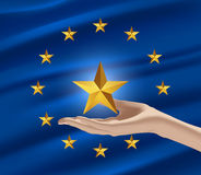 A new member of the European Union. The European Union (EU) is an economic and political union of 28 member states that are located primarily in Europe Royalty Free Stock Photography