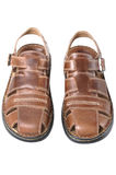 New men's  sandals  on white Royalty Free Stock Photo