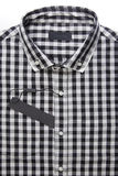 New men's shirt and blank label stock images
