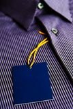 New men's shirt label Royalty Free Stock Photography