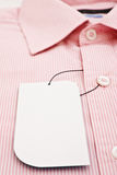 New men's shirt and new label Stock Image