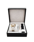 New men's watch in a box. A gift Stock Image