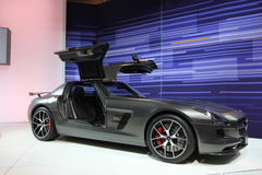 New Mercedes AMG 2015. New Mercedes AMG at Chicago car show 2014 Royalty Free Stock Images
