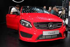 The new Mercedes B-class Stock Image