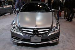 New Mercedes E 550. Mercedes exposition at Chicago auto show Stock Photos