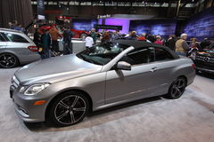 New Mercedes E 550 coupe. Mercedes exposition at Chicago auto show Royalty Free Stock Image