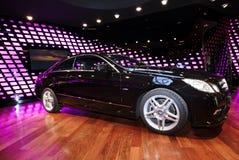 New Mercedes E class in black color Stock Photos