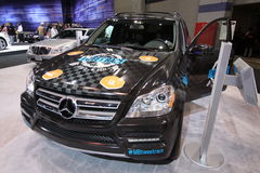 New Mercedes GL 350. Mercedes exposition at Chicago auto show 2011 Stock Photos