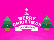 The New merry Christmas greetings card vector. royalty free illustration
