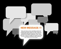 New message bubbles Royalty Free Stock Photos