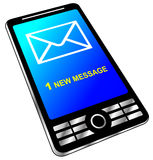 New message on phone Royalty Free Stock Photos