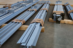 New metal beams Stock Image