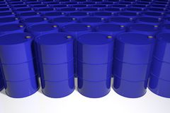 New metal blue barrel. 3D render. royalty free illustration