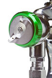 New metal brilliant Spray gun closeup Royalty Free Stock Photo