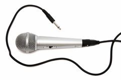 New and metal microphone Stock Photography