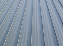 New Metal Roof Detail. The lines of a new metal stand out in perspective Stock Image