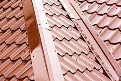 New metal roof Royalty Free Stock Photos