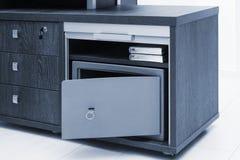 New metal safe stock photo