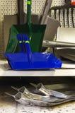 New metal shovel shop Stock Photos