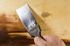New metal spatula Royalty Free Stock Image