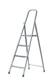 New Metallic Step Ladder. Isolated on white Stock Photography