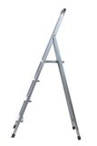 New Metallic Step Ladder. Isolated on white Royalty Free Stock Photo