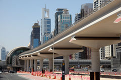 New Metro Line in Dubai Royalty Free Stock Photo