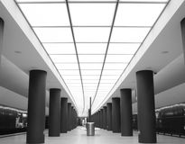 New metro station Brandenburger Tor Berlin Royalty Free Stock Image