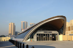New Metro Station in Dubai Stock Image