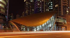 New Metro Station in Dubai Stock Images