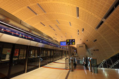 New Metro Station in Dubai Royalty Free Stock Photography