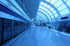 New Metro Station in Dubai Stock Photography