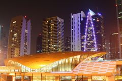 New metro station in Dubai, United Arab Emirates Royalty Free Stock Photography