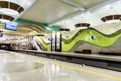 New metro station in Sofia Stock Photos