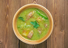 New Mexican Green Chile Stew Stock Photo