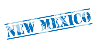 New mexico blue stamp Royalty Free Stock Image