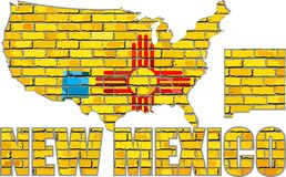 New Mexico on a brick wall Stock Photo