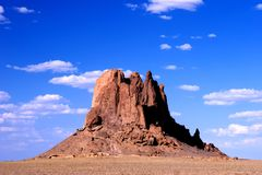 New Mexico Butte. A butte in northwest New Mexico near Shiprock. Considered to be a sacred and spiritual place stock images