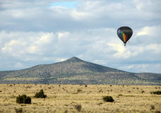 New Mexico countryside. Hot air balloon over the New Mexico desert stock images