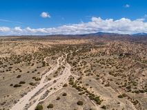 New Mexico Desert Landscape Aerial Photograph Stock Images
