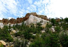 New Mexico, El Malpais: Dakota Sandstone Bluffs at Highway 117 royalty free stock images