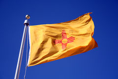 New Mexico Flag. A blowing New Mexico flag Stock Photography