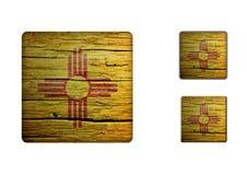 New-Mexico Flag Buttons Stock Photos